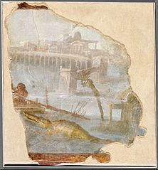Wall Fragment with a Nile Landscape