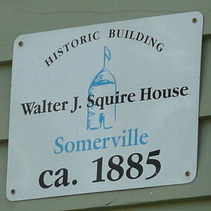 House at 10 Arlington Street - Image: Walter J Squire House Sign