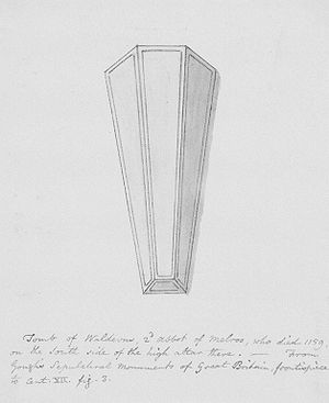 Jocelin of Glasgow - 19th-century sketch of Waltheof's 12th-century tomb