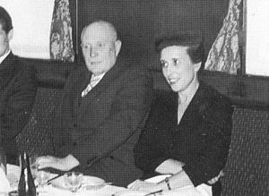 Aleksander Warma - Aleksander Warma (left) with his wife in the 1950s or the early 1960s.