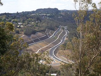 Warrego Highway - Image: Warrego Highway from Picnic Point