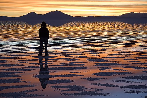 Watching Sunset Salar de Uyuni Bolivia Luca Galuzzi 2006