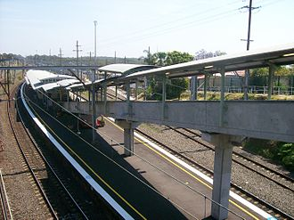 Waterfall railway station, Sydney - Northbound view in November 2011