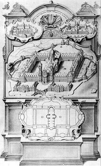 Weingarten Abbey - Ideal plan of Weingarten Abbey, 1723