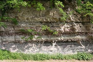 Weinsberg - Geological strata at the Burgberg