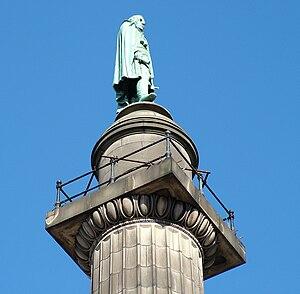 Wellington's Column - Wellington at the top of the column