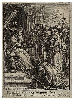 Wenceslas Hollar - The Pope (State 2)