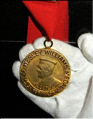 Vulcan Society - FDNY Department Honor - The Chief Wesley Williams Medal for Valor