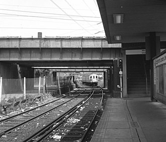 West Ham station attack - A platform at the station in 1986