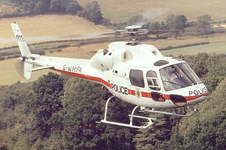 West Midlands Police - The force's first helicopter, G-WMPA, an Aérospatiale AS355 F2.