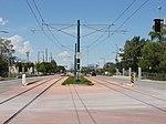 West along tracks from Fairpark station, Aug 15.jpg