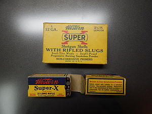 Western Cartridge Company - Typical consumer packaging from the Western Cartridge Company from 1960