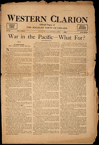 Socialism in Canada - Western Clarion 2 January 1922, Official newspaper of the Socialist Party of Canada