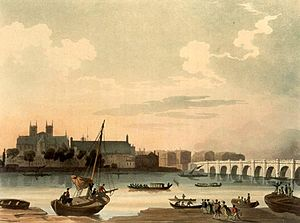 Composed upon Westminster Bridge, September 3, 1802 - Westminster Bridge as it appeared in 1808