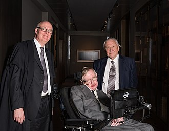 David Attenborough - University of Oxford librarian Richard Ovenden, Professor Stephen Hawking and David Attenborough at the official opening of the Weston Library, Oxford in March 2015. Ovenden awarded the Bodley Medal to Attenborough and Hawking as part of the ceremony