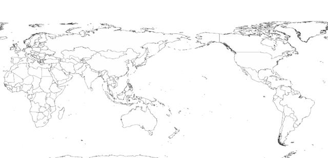 Blank World Map Asia Centered - Blank map of the pacific