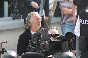 Whole Lotta Sole - Cinematographer Des Whelan during location shooting in Downpatrick, April 2011