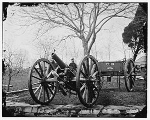Wiard rifle - 6-pdr Wiard gun at the Arsenal, Washington, D.C.