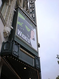 Wicked, Orpheum Theatre, San Francisco, August 2009.jpg