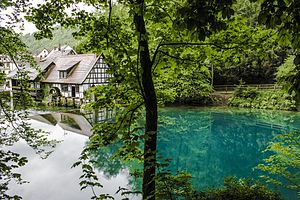 Blautopf - Wide view of Blautopf