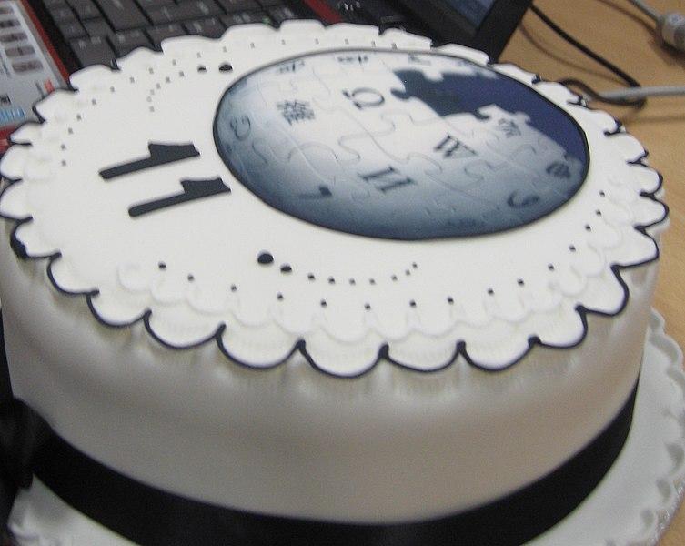 Filewikimedia 11th Birthday Cake Croppedg Wikimedia Commons