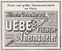 Wilhelm Uebe Zerbst Thermometer