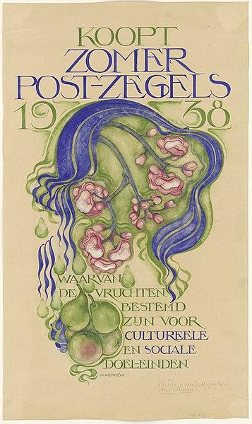 File:Willem Arondeus - Ontwerp affiche zomerpostzegel - Rijksmuseum Amsterdam - RP-T-1938-9.jpg