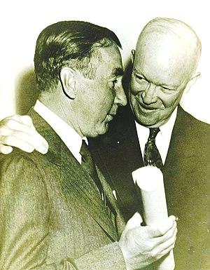 William Harding Jackson - White House - 1 March 1956 - William Harding Jackson, US National Security Adviser and President Dwight D. Eisenhower