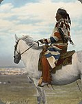 William Jackson (Little Blackfeet) on white horse. 3.jpg