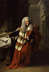 Portrait of William Murray, 1st Earl of Mansfield, wearing his parliamentary robes