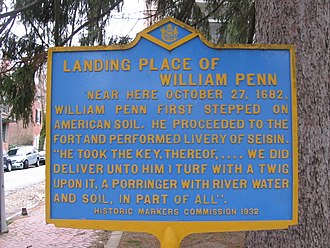 Penn Valley, Pennsylvania - William Penn Milestone located on 901 Montgomery Avenue
