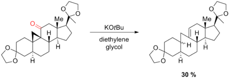 Scheme 17. Ring cleavage during Wolff-Kishner reduction