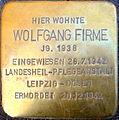 Wolfgang Firme Stolperstein 01.JPG