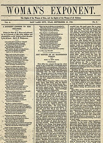 Woman's Exponent - September 15, 1880 issue