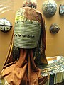 Woman's hat and jewelry, Turkmen - AMNH - DSC06216.JPG