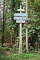 Woodland signpost - geograph.org.uk - 1255297.jpg