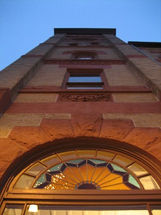 Woodstock Square Historic District - The bell tower of the Woodstock Opera House.
