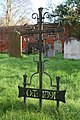 Wrought iron cross - geograph.org.uk - 1623479.jpg