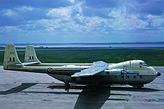 RAF Benson - A RAF Armstrong Whitworth Argosy C.1 of the type based at RAF Benson during the 1960s