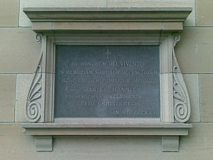 Xavier College - Memorial Chapel foundation stone