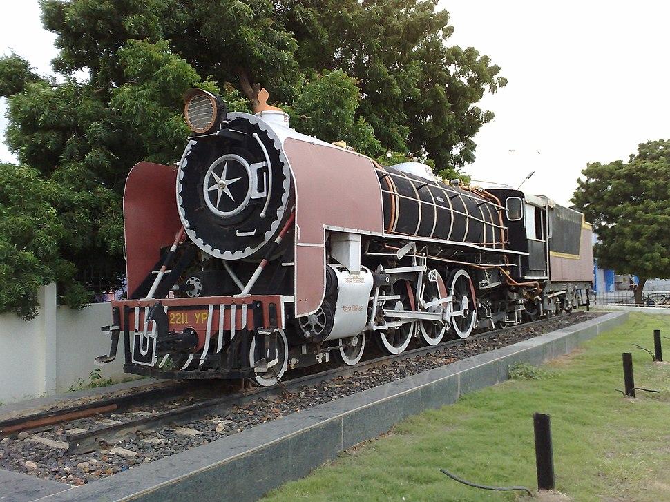 YP class loco outside Bhuj railway station