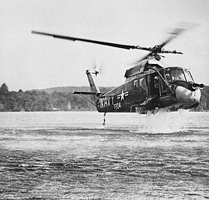 Kaman SH-2 Seasprite - A YUH-2A during ditching trials, 1963
