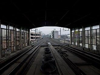 Sendai Subway Namboku Line - Tracks between Yaotome and Izumi-Chūō stations