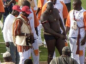 Senegalese wrestling - Champion wrestler Yékini (Yakhya Diop)