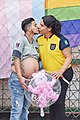 Zack Elías joven trans embarazado ecuatoriano besando a Diane Rodriguez - Zack Elías young Ecuadorian pregnant trans kissing Diane Rodriguez HD.jpg