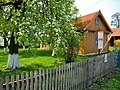 Zalipie museum - orchard and house of the Felicja Curyłowa's farm.JPG