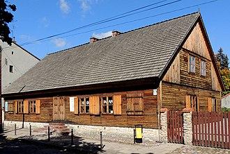 Zduńska Wola - Birthplace of Saint Maximilian Kolbe, an example of a wooden weaver's house