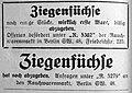Ziegenfüchse, Anzeigen 1924.jpg