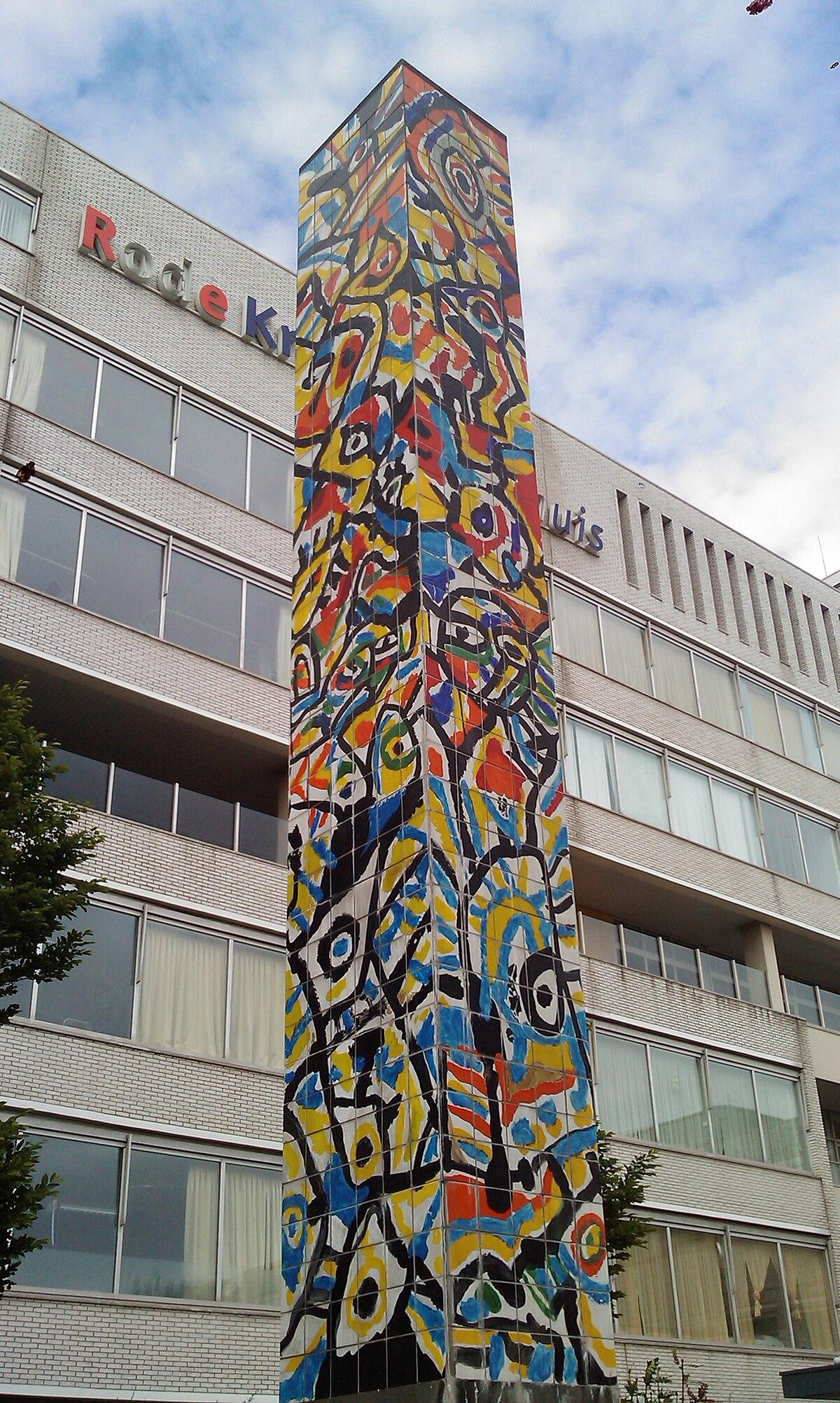 File Zuil Voor Rode Kruis Ziekenhuis Beverwijk Jpg Wikimedia