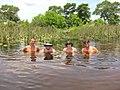 Zwemmen in de Okovango Delta, tussen de krokodillen en nijlpaarden -) (6558962899).jpg